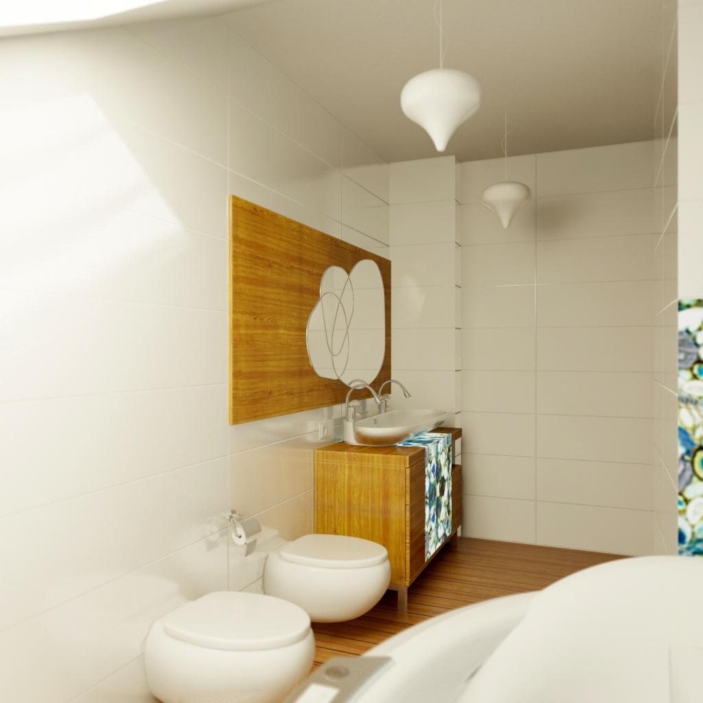 Ванная комната в современном стиле от дизайнера Ольги Егуповой